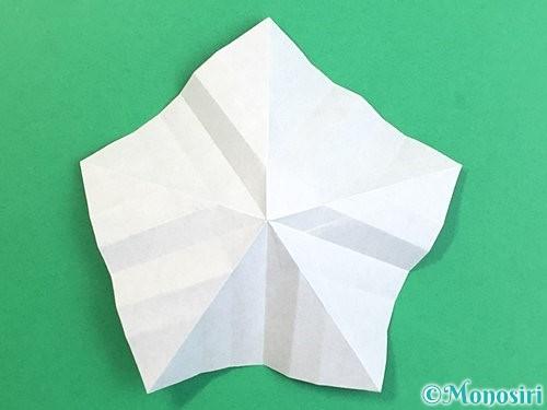 折り紙で立体的なリンドウの折り方手順25