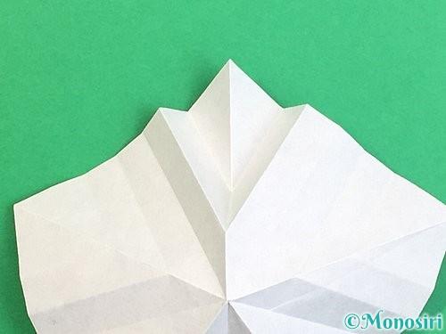 折り紙で立体的なリンドウの折り方手順27