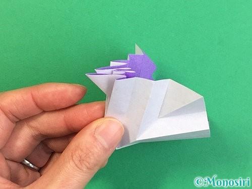 折り紙で立体的なリンドウの折り方手順29
