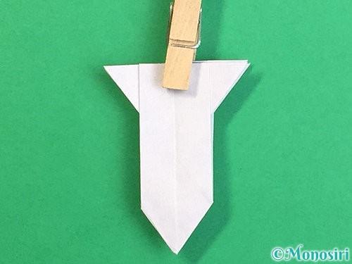 折り紙で立体的なリンドウの折り方手順30