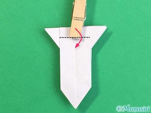 折り紙で立体的なリンドウの折り方手順31