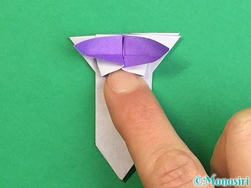 折り紙で立体的なリンドウの折り方手順32
