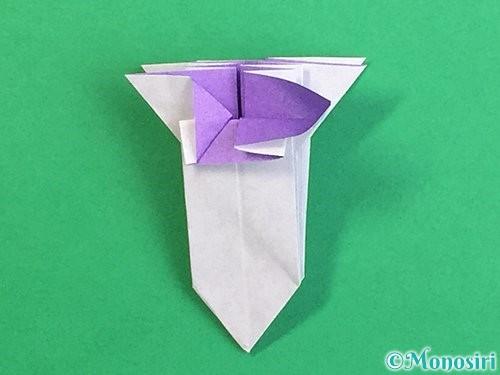 折り紙で立体的なリンドウの折り方手順34