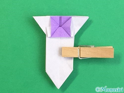折り紙で立体的なリンドウの折り方手順35