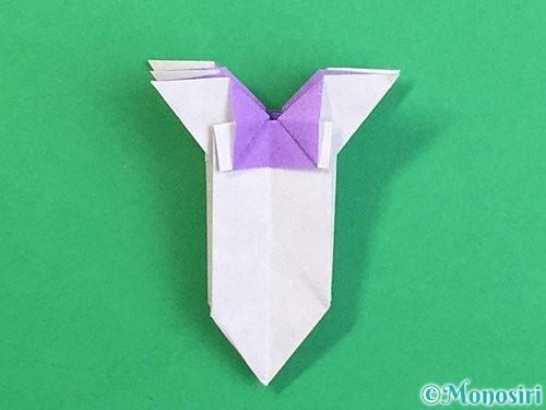 折り紙で立体的なリンドウの折り方手順36