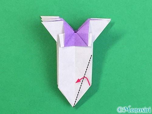 折り紙で立体的なリンドウの折り方手順37