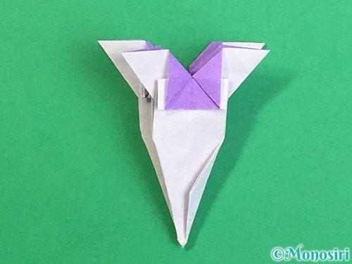 折り紙で立体的なリンドウの折り方手順39