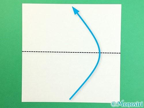 折り紙で立体的なリンドウの折り方手順51