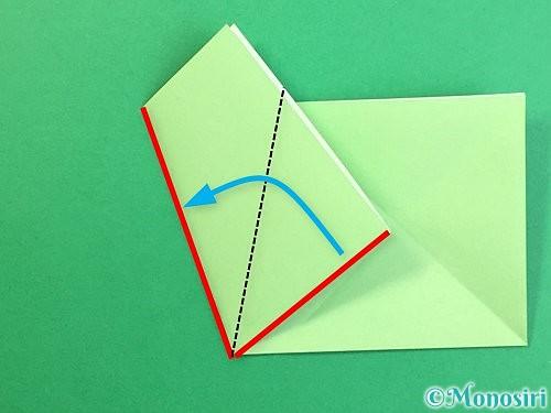 折り紙で立体的なリンドウの折り方手順57