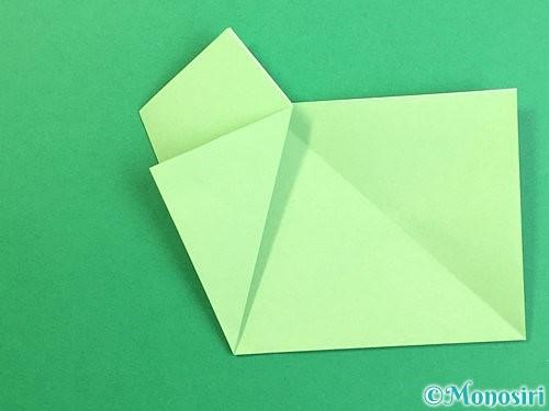 折り紙で立体的なリンドウの折り方手順58