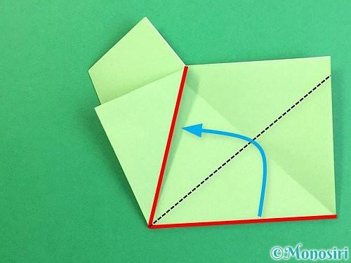 折り紙で立体的なリンドウの折り方手順59