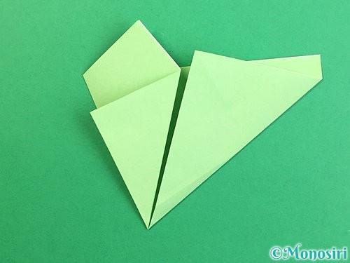 折り紙で立体的なリンドウの折り方手順60