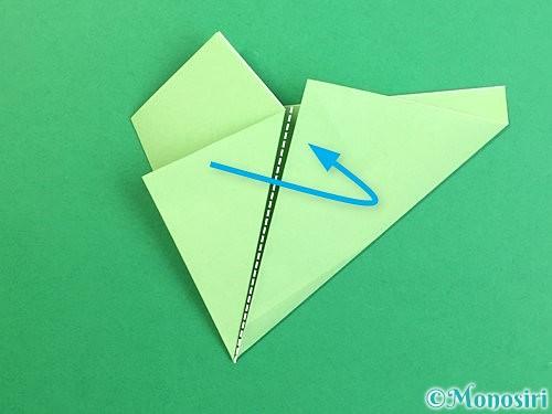 折り紙で立体的なリンドウの折り方手順61