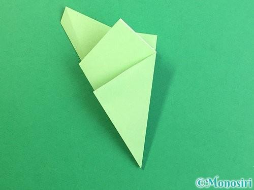 折り紙で立体的なリンドウの折り方手順62