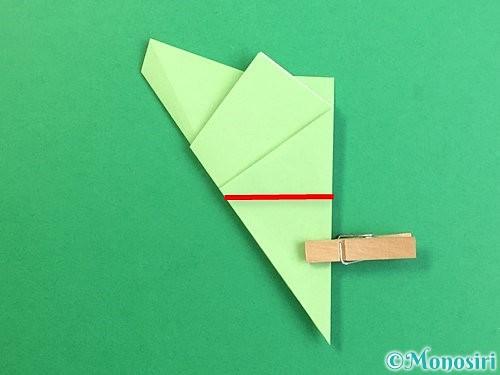 折り紙で立体的なリンドウの折り方手順63
