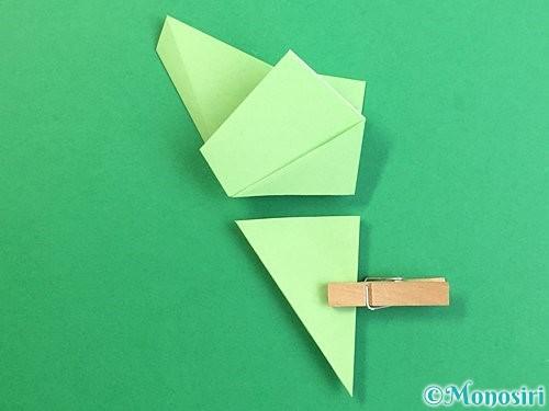 折り紙で立体的なリンドウの折り方手順64