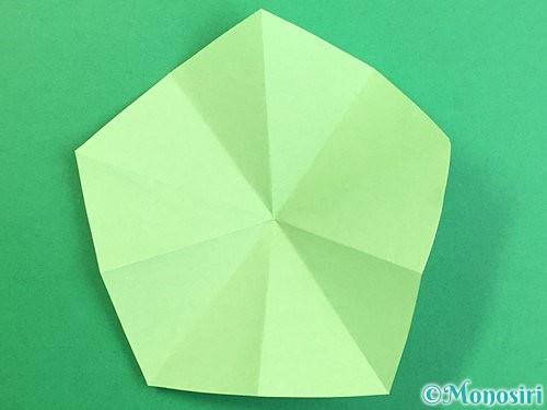折り紙で立体的なリンドウの折り方手順65