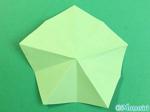 折り紙で立体的なリンドウの折り方手順67