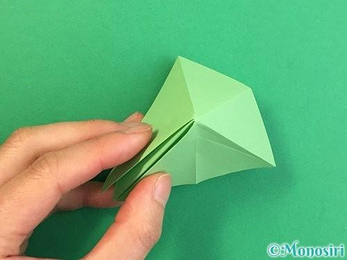 折り紙で立体的なリンドウの折り方手順68
