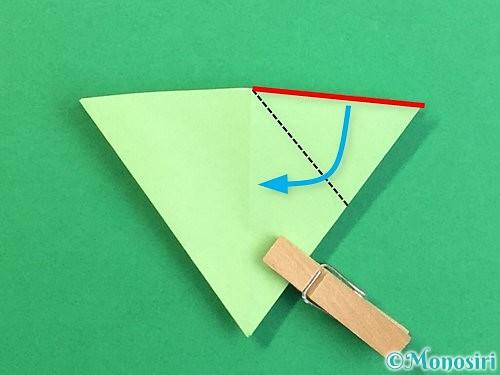 折り紙で立体的なリンドウの折り方手順70