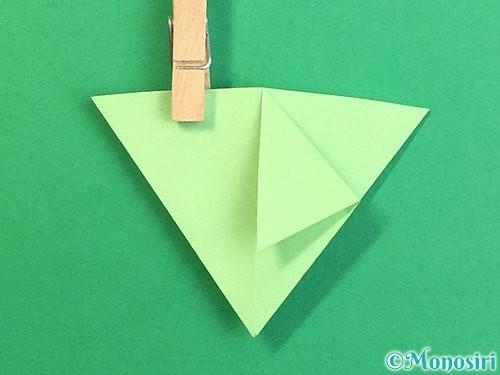 折り紙で立体的なリンドウの折り方手順71