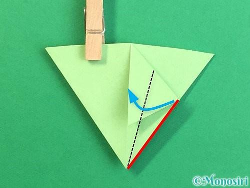 折り紙で立体的なリンドウの折り方手順72