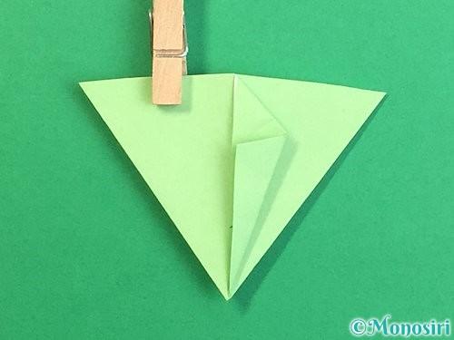 折り紙で立体的なリンドウの折り方手順73