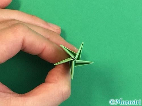 折り紙で立体的なリンドウの折り方手順75