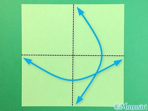 折り紙で立体的なリンドウの折り方手順48