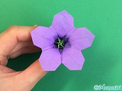 折り紙で立体的なリンドウの折り方手順77
