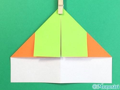 折り紙で柿の折り方手順8
