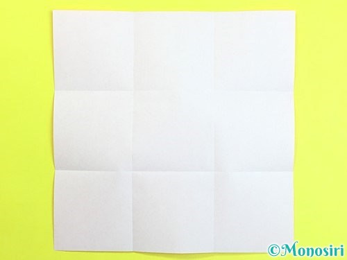 折り紙で立体的な柿の折り方手順2