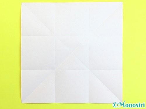 折り紙で立体的な柿の折り方手順4