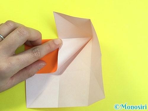 折り紙で立体的な柿の折り方手順9