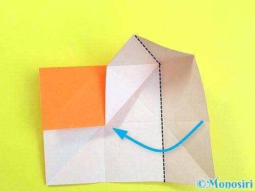 折り紙で立体的な柿の折り方手順10