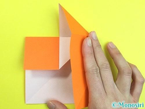 折り紙で立体的な柿の折り方手順11