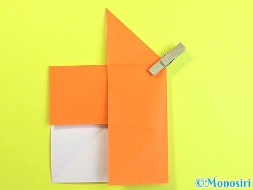折り紙で立体的な柿の折り方手順12