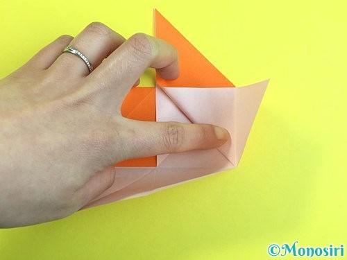 折り紙で立体的な柿の折り方手順14
