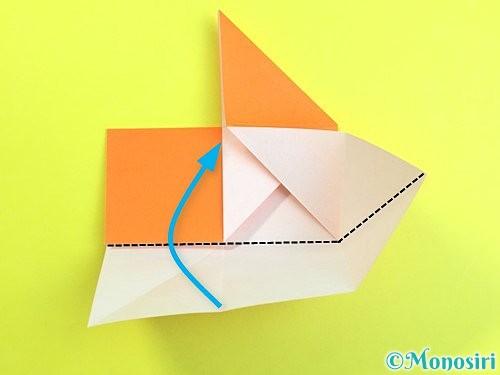 折り紙で立体的な柿の折り方手順15