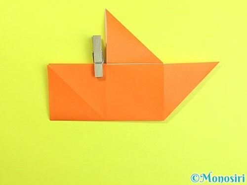 折り紙で立体的な柿の折り方手順17