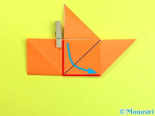 折り紙で立体的な柿の折り方手順18