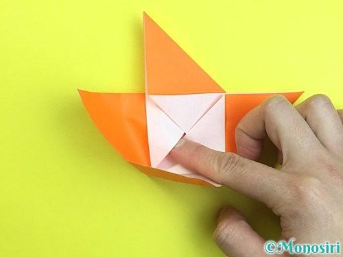 折り紙で立体的な柿の折り方手順21