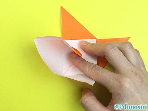 折り紙で立体的な柿の折り方手順22