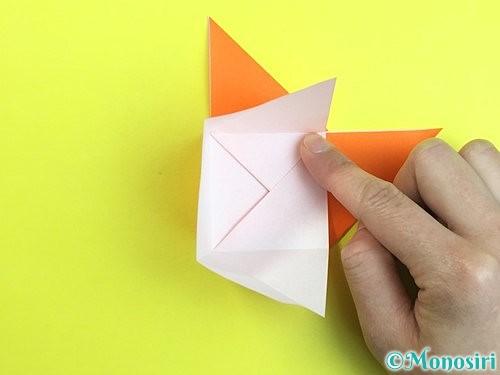 折り紙で立体的な柿の折り方手順23