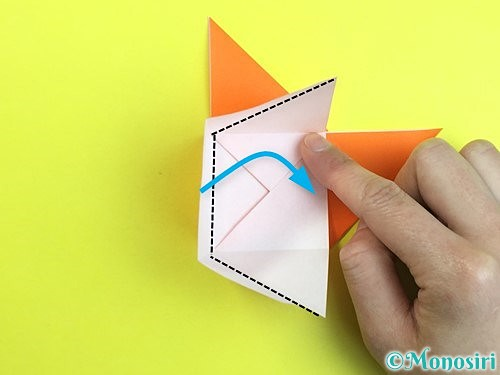 折り紙で立体的な柿の折り方手順24