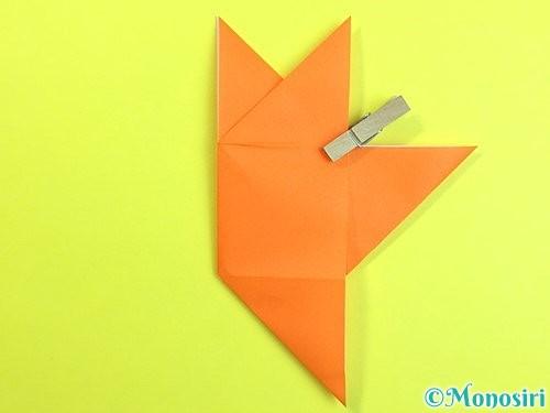 折り紙で立体的な柿の折り方手順26
