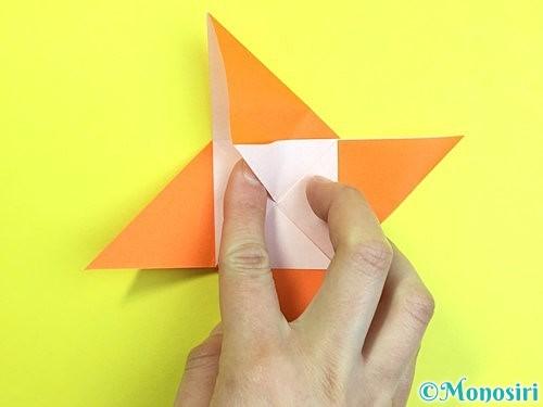 折り紙で立体的な柿の折り方手順30