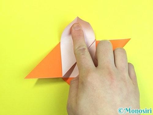 折り紙で立体的な柿の折り方手順32