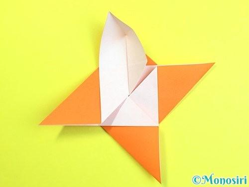 折り紙で立体的な柿の折り方手順33