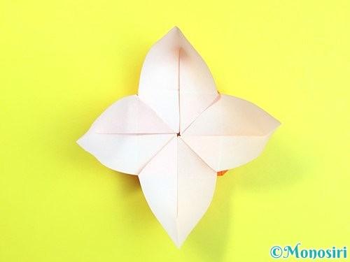 折り紙で立体的な柿の折り方手順34